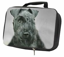 More details for kerry blue terrier dog black insulated school lunch box bag, ad-kb1lbb