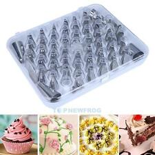 52 x Stainless Steel Icing Nozzle Set Cake Mounted Craft Baking Decorating Tools