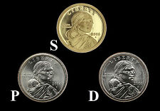 "2006 P+D+S (3 Coin Set) Sacagawea Dollars US Mint  ""New"""