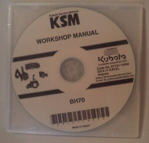 NEW FACTORY ORIGINAL KUBOTA  BH70 LOADER ATTACHMENT WORKSHOP DVD/CD  2014