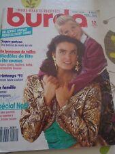 MAGAZINE BURDA MODEN  MODELES DE FÊTES JUPES/GILETS/BODYS ETC DECEMBDRE 1990