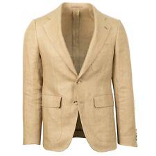 NWT CARUSO Camel Linen 2 Button Sport Coat 46/36 R Drop 10
