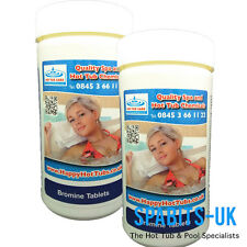 2kg Bromine Tablets *CLASS 1* Hot Tub Swimming Pool Spa Chemicals Odourless Tubs