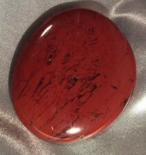 BRAND NEW RED JASPER PALM STONE WITH POUCH. CCRJ03