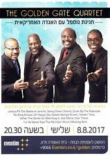 GOLDEN GATE QUARTET Tour Israel 2017 Original Flyer Pamphlet Hebrew Ad VERY RARE