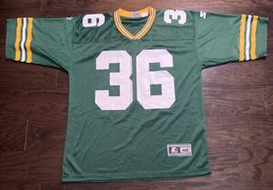 Leroy Butler #36 Vintage Green Bay Packers NFL Football Jersey Mens 48 Starter