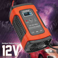12V 5A LCD Motorcycle Car Battery Charger Pulse Repair AGM & Gel Wet Lead  ☆ ab