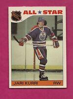 1985-86 TOPPS # 3 OILERS JARI KURRI  INSERT STICKER NRMT-MT CARD  (INV# A3681)