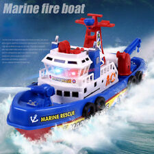 High Speed Light Electric Marine Rescue Fire Fighting Boat Non-Remote Toy Kids