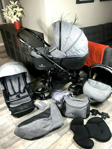 Venicci Shadow - 3 in 1 Travel System - Denim Grey Colour - FREE DELIVERY