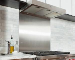 Satin Stainless Steel Cooker Splashback Brushed Kitchen Hob Splash Back Plate