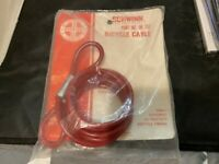 NEW NOS VINTAGE SCHWINN BICYCLE LOCK CABLE PART NO 06 752 RED VINYL COVERED