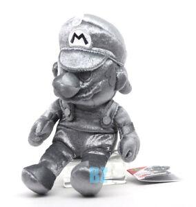 "GENUINE Super Mario Bros Metal Mario Plush 9"" All Star Collection Sanei 3058"