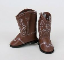 "Brown Cowboy Boots fits American Girl Dolls & 18"" Dolls"
