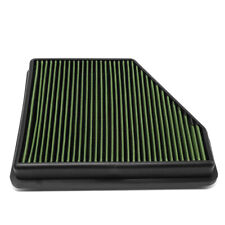 Fit 10-15 Chevy Camaro 3.6L/6.2L Engine High Flow Drop-In Panel Air Filter Green