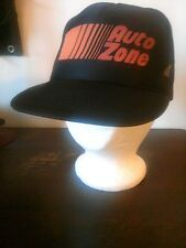 Vintage Textured Auto Zone Logo Foam Flat Bill Snap Back Trucker Hat Black Red