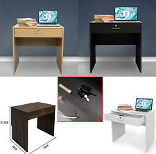 BR Work from Home Desk Computer Office Lock Table Study Video Assemb Drawer Unit