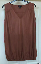 New Look Curves Brown Sleeveless Tunic Top Size 18