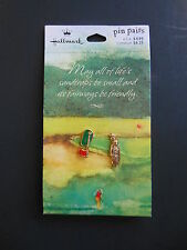 Hallmark Golf Pin Pairs with Putting Green and Golf Clubs-Retired Item