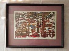 VTG Mono print LANDSCAPE BATTERED signed Friend Modernist Abstract