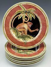 "6 Andrea by Sadek Jungle Safari Siddhia Hutchinson 8 1/4"" Porcelain Plates Raf"
