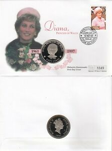 COOK ISLAND 18 MARCH 1998 PRINCESS DIANA IN MEMORIAM LE COIN FIRST DAY COVER