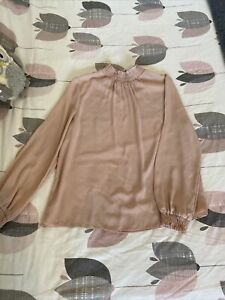 NEWLOOK SIZE 14 LIGHT PINK BLOUSE. MORE LIKE SIZE 10. WORN ONCE.