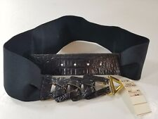 Vintage 80s Chic Stretch Belt Wide Made In USA Cinch New Old Stock