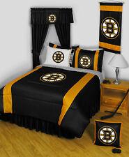 Boston Bruins NHL Queen Comforter & Sheet Set (5 Piece Bed In A Bag)