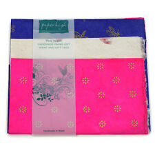 Fair Trade Lokta Paper Three Sheet Gift Wrap Pack GWP63