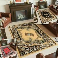 BEIGE BLACK RED TRADITIONAL RUG FLORAL PATTERN NEW AREA RUGS SMALL X LARGE SIZE