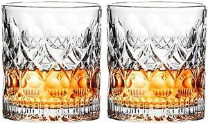 Old Fashioned Style Glasses Cocktail Whiskey Drinking Crystal Men Gifts Set of 2