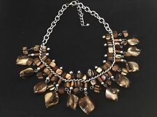 Statement Piece Necklace, Chunky beaded necklace, chocker style handmade