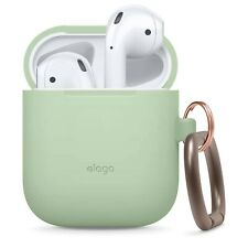 AirPods Case - elago® Silicone Case with Keychain [Pastel Green]
