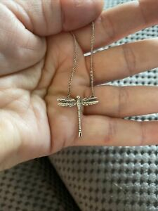 Silver Coloured Dragonfly Pendant On Silver Colour Chain