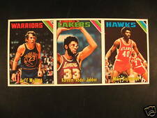 1975-76 Topps Basketball 3 Card Strip Abdul-Jabbar