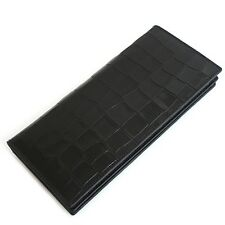 Man Long Wallet Man Bifold Wallet Card Wallet Man Wallet Cow Leather 1162A Black