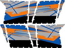 GRAPHICS DECAL KIT PRO ARMOR 4 DOOR POLARIS RZR 800 Blue Fire Orange No Cutouts