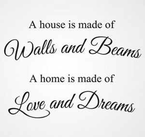 'A Home is Made of Love and Dream' Quote Reusable Stencil A5 A4 A3 Decor / Q30