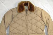 Vtg 40s Comfy Diamond Quilted Goose Down Jacket Crown Spring Zipper RARE Sz 50