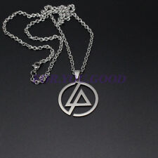 Linkin Park Necklace Band Group Logo Punk Stainless Steel Pendant Fast Ship