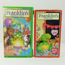 Franklin the Turtle VHS Videos Lot of 2 Birthday Party Valentine New Friend Kite