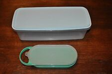 6 pc VINTAGE clear 782 TUPPERWARE celery carrot KEEPER  + 1374 cheese grater USA