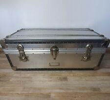 alte Rimowa Reisetruhe Reisekoffer Aluminium Truhe Tisch Deko 1950er