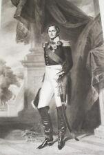 LEOPOLD 1er ROI DES BELGES GRAVURE WINTERHALTER 1838 VERSAILLES R1896