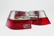 VW Golf MK4 98-04 Crystal Red Rear Tail Lights Lamps Pair Left Right With Bulbs