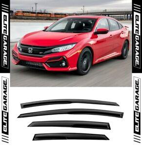 Fits Honda Civic RS Sedan Weathershields Side Window Visors (16-20) Mugen Style