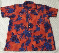 Nautical Men's Hawaiian Shirt Large Hibiscus Print Size Large