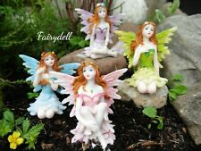 More details for new fairy figures - set of 4 6cm fairy glen perfect fairy gardens houses