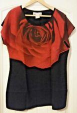 Women's Size XL Seventh Avenue Rose Shirt~EC~